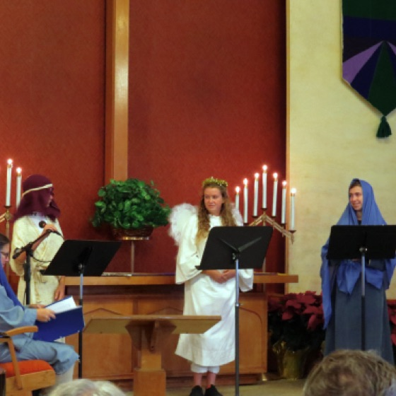 Narration of our story was provided by a shepherd, an angel, and Mary.